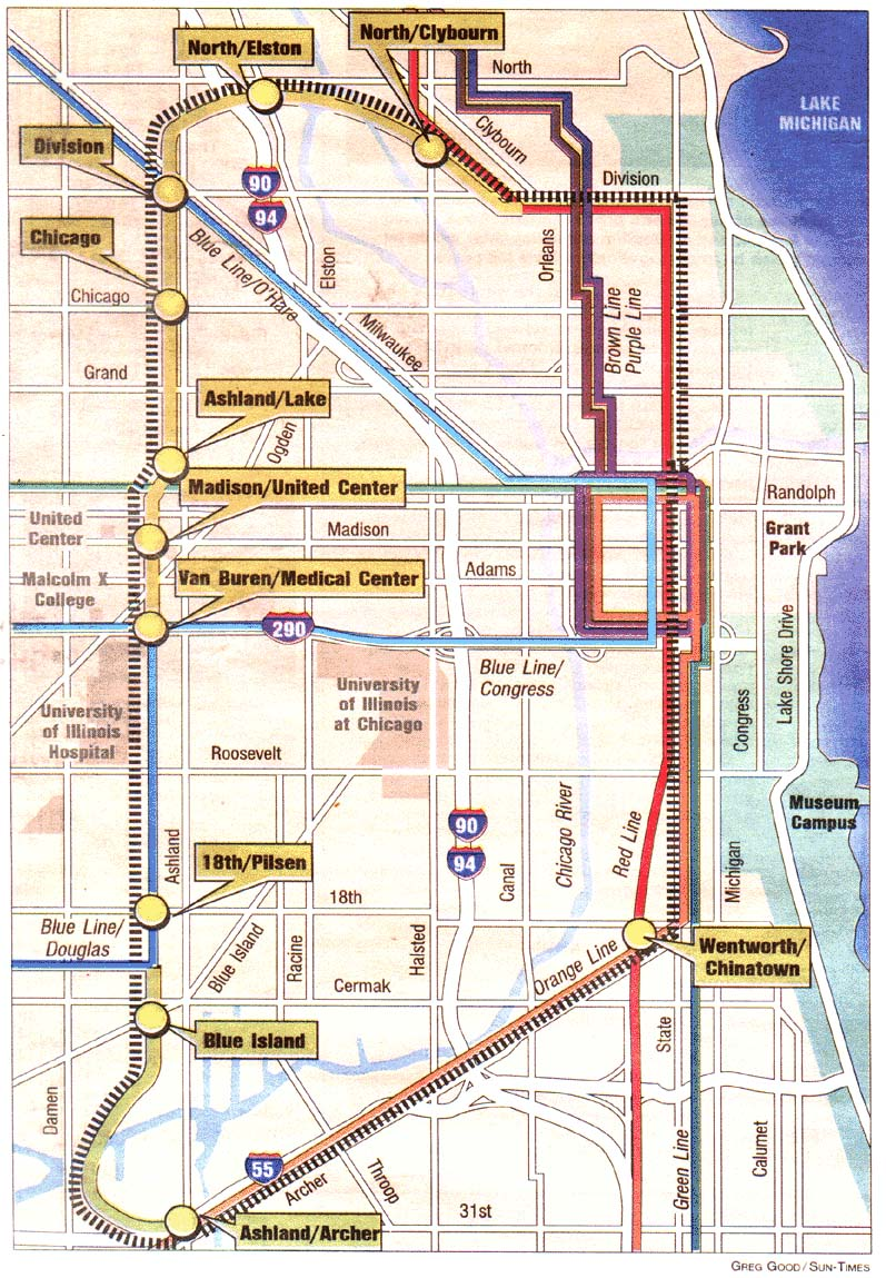 CTA Floats Circle Line Plan - Chicago map ring