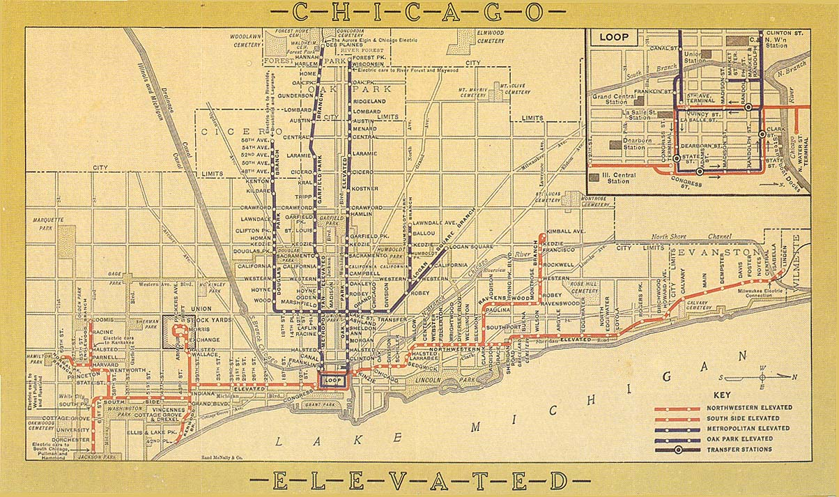 Chicago \'\'L\'\'.org: System Maps - Route Maps