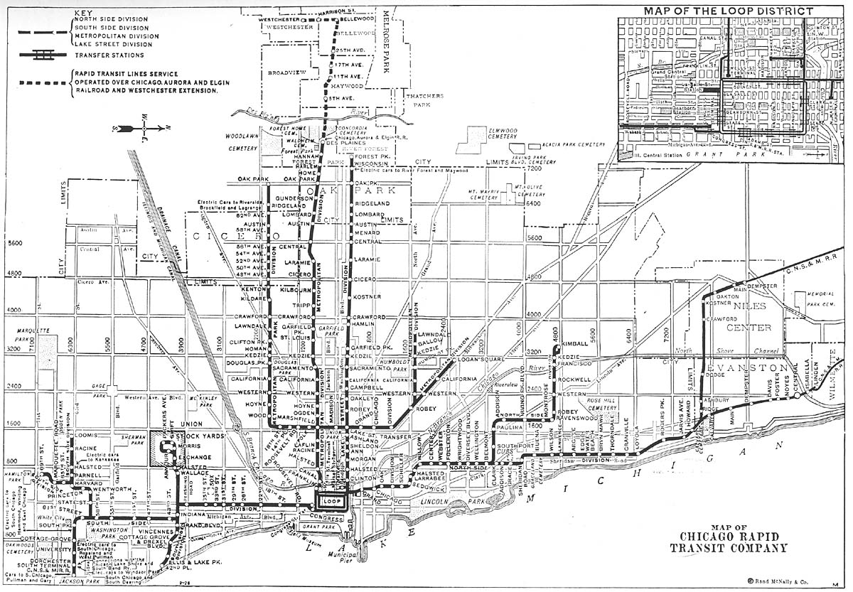 Chicago ''L'' org: System Maps - Route Maps