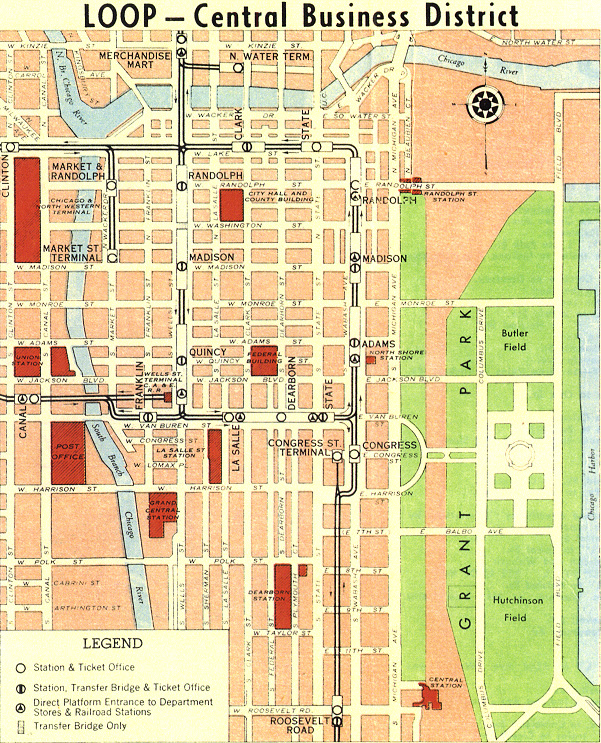 Detailed Map of Chicago Loop