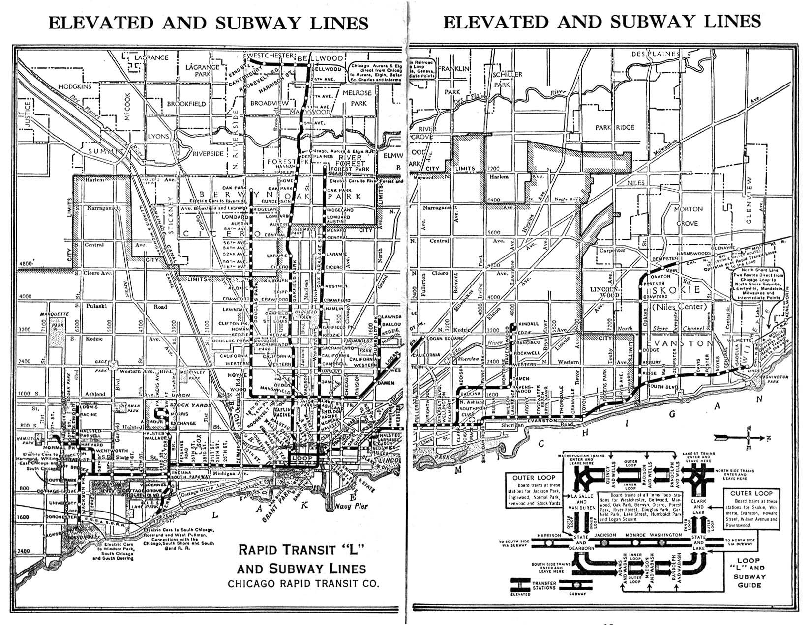 Chicago Lorg System Maps Route Maps - Chicago union map