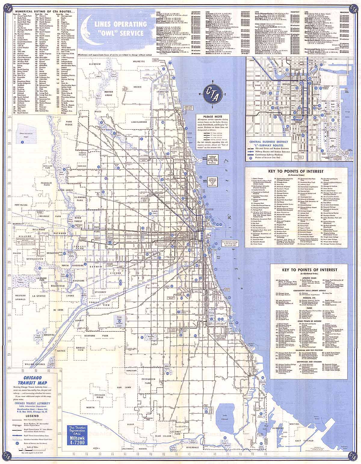 Chicago ''L''.org: System Maps - Route Maps on