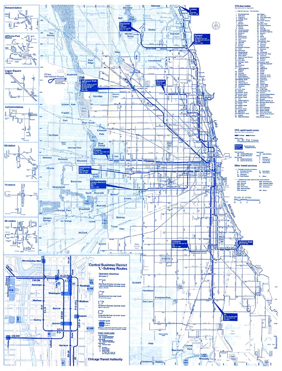 Chicago Subway Map Downtown.Chicago L Org System Maps Route Maps
