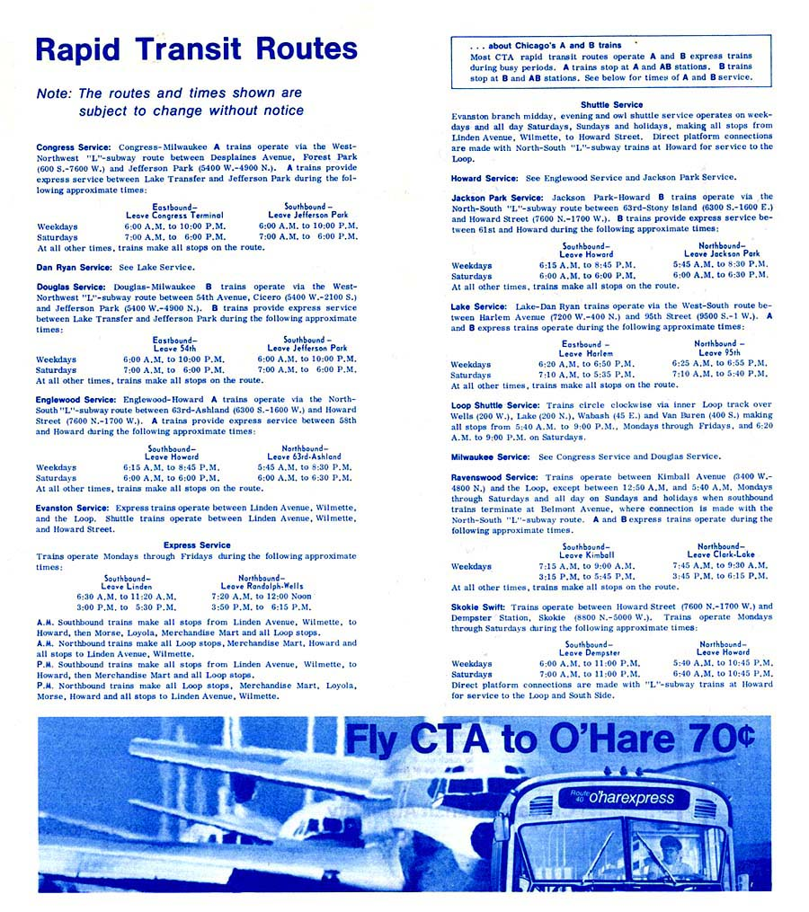 Cta Bus Route Map – Table