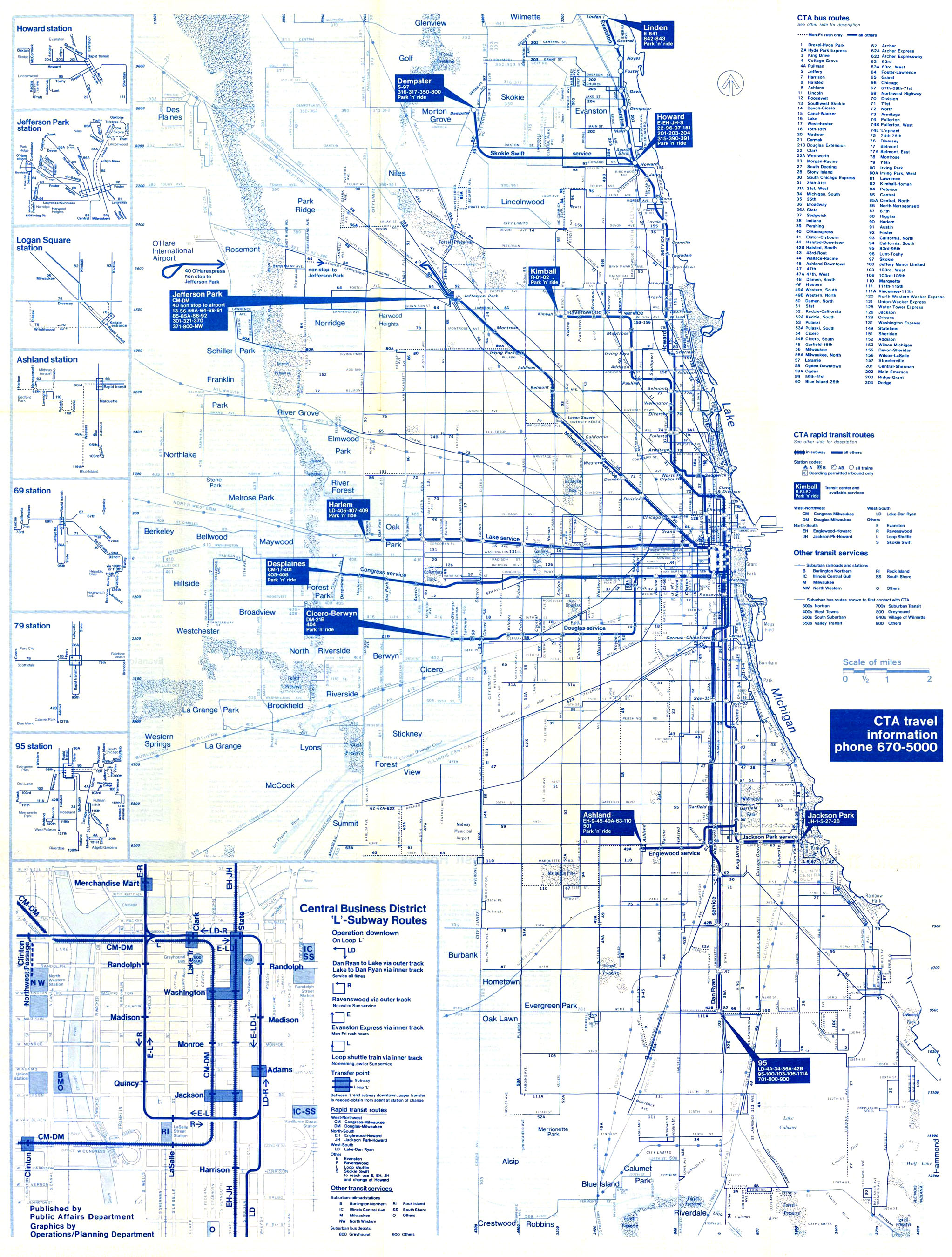 Chicago Subway Map With Streets.Chicago In Maps