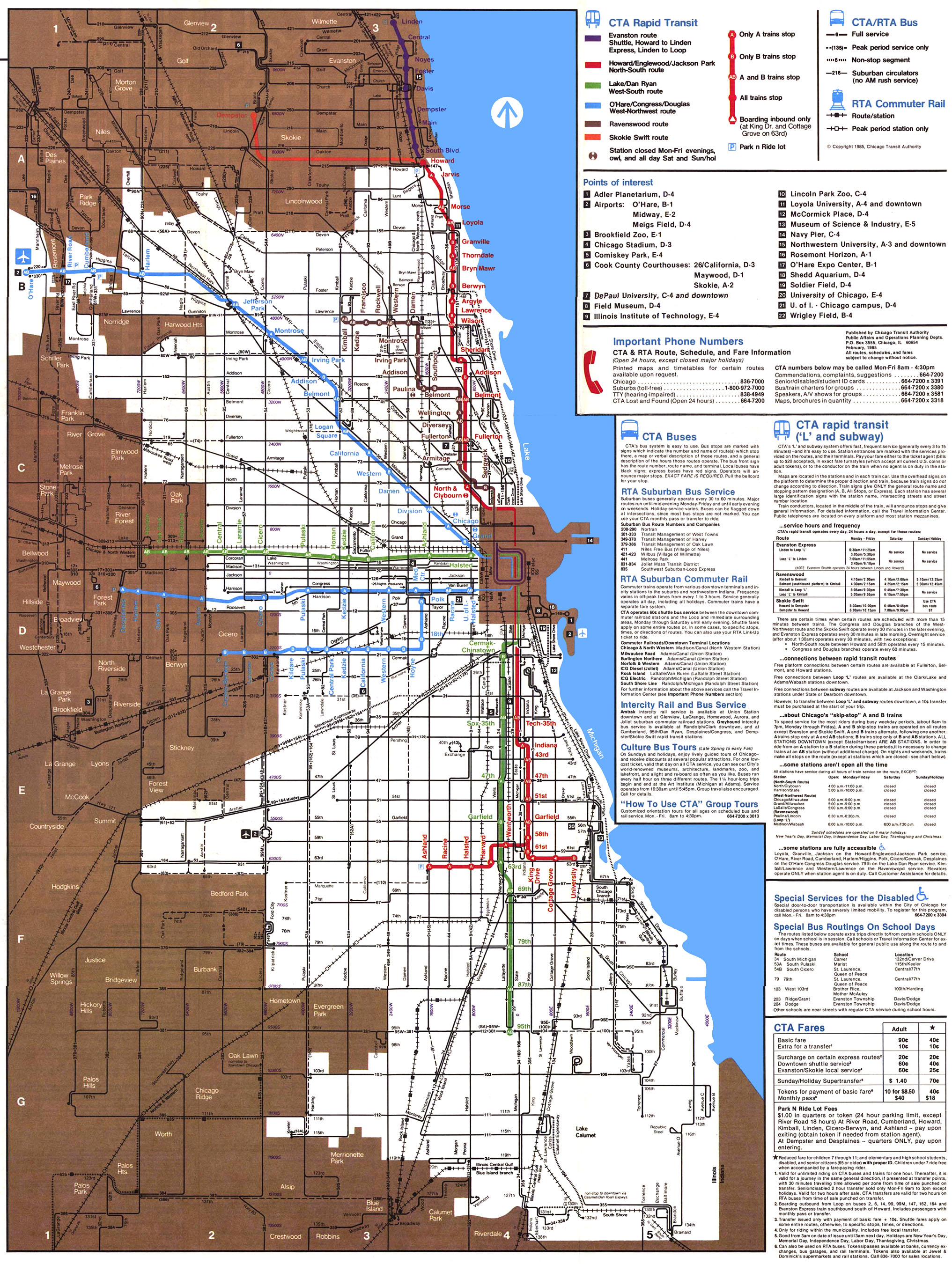 Chicago El Map Chicago ''L''.org: System Maps   Route Maps Chicago El Map
