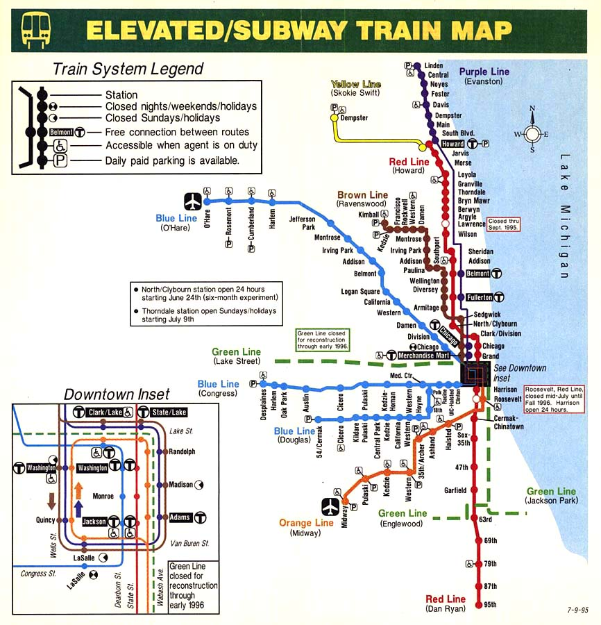 The official illinois and chicago transportation thread page 62 i took over the cta map in 1995 in 1997 i redesigned the stylized cta train map at the time cta was using one that looked like this sciox Image collections