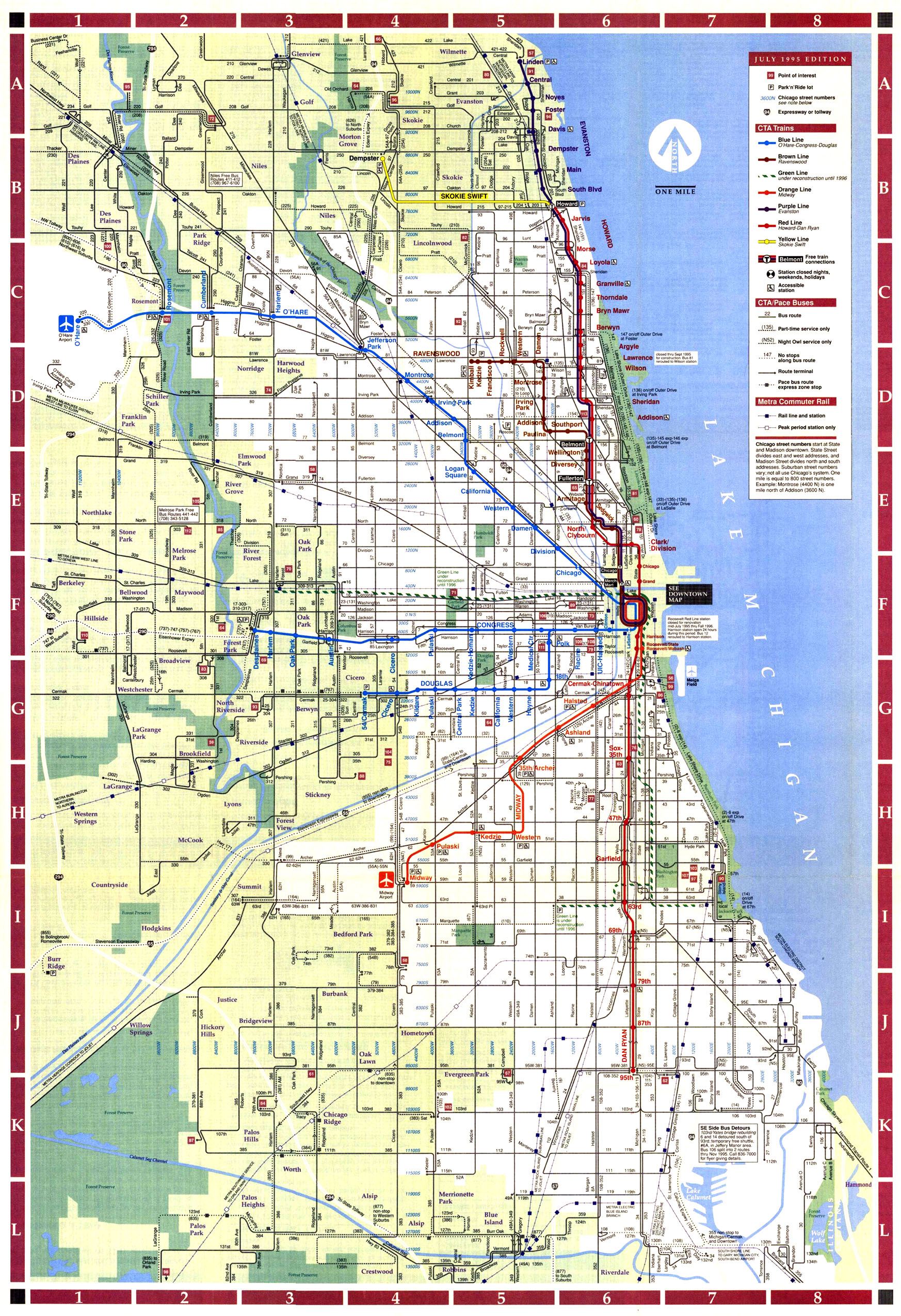 Chicago Map Newyorkcitysnaps - Chicago map time zone