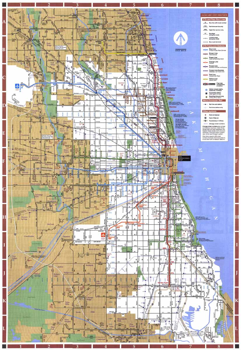 Chicago Lorg History The CTA Present - Chicago map ring