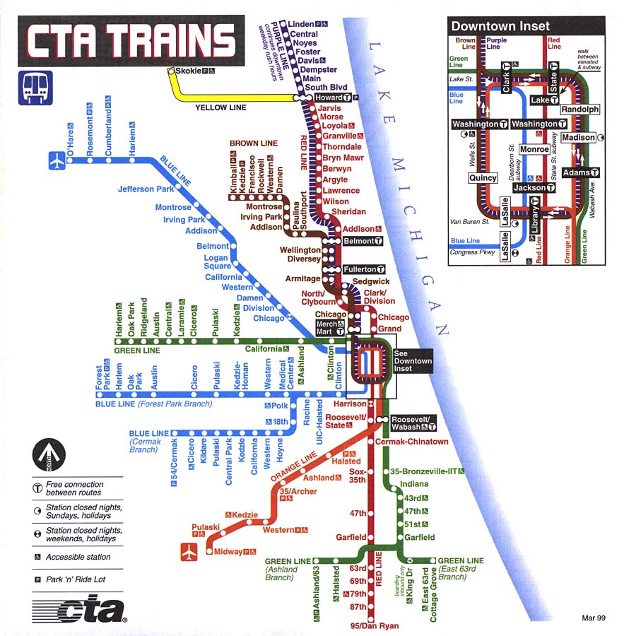 Chicago El Train Map  Bing Images