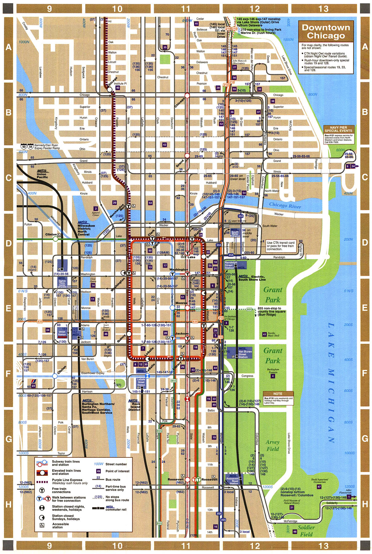 downtown chicago map: