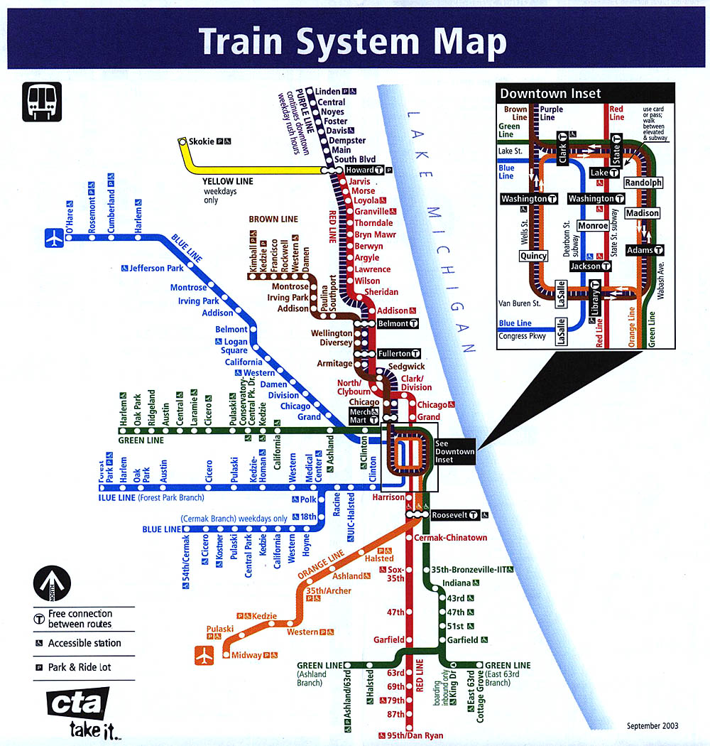 Chicago El Map
