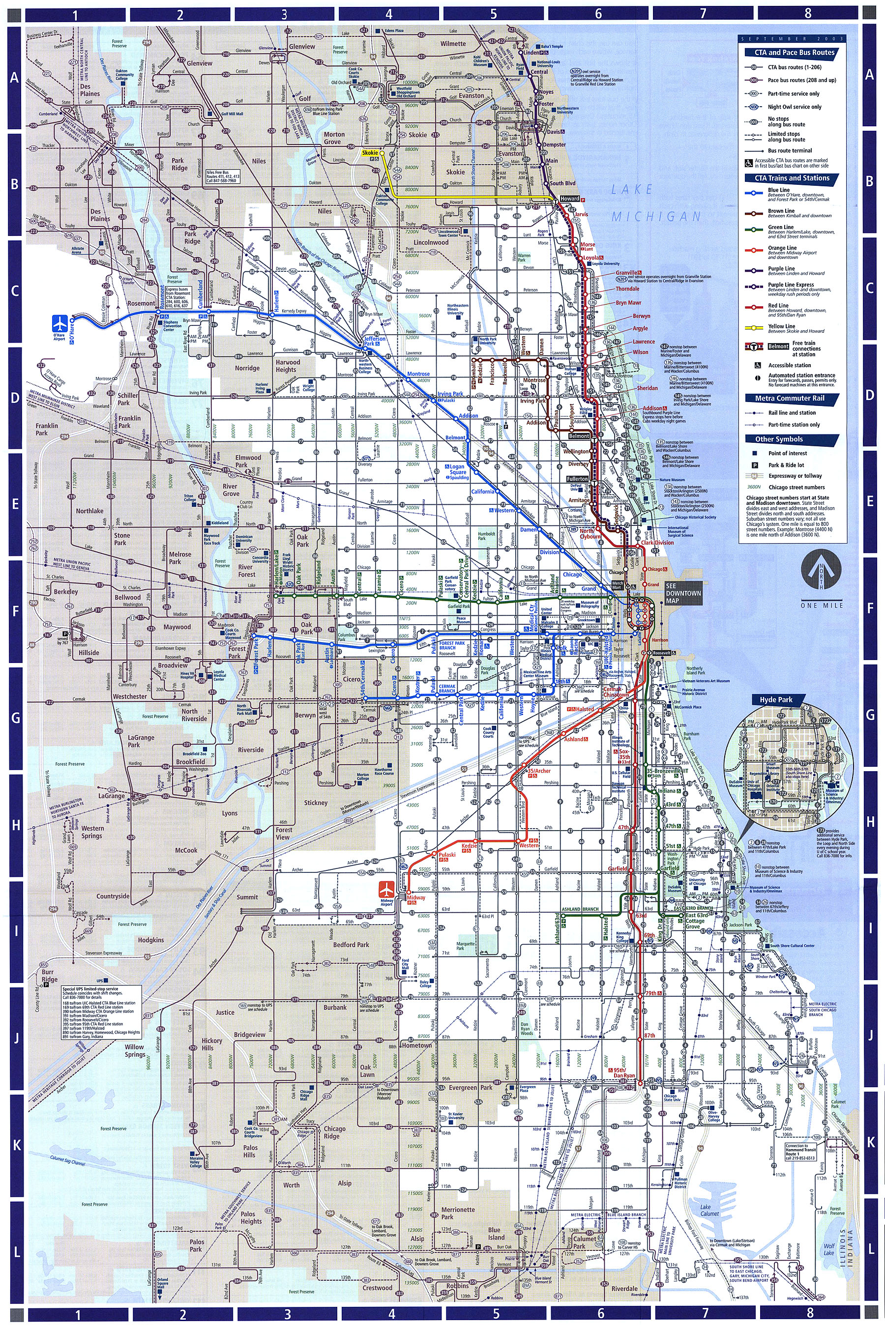 2003map cta bus map breakout face map map of toledo ohio
