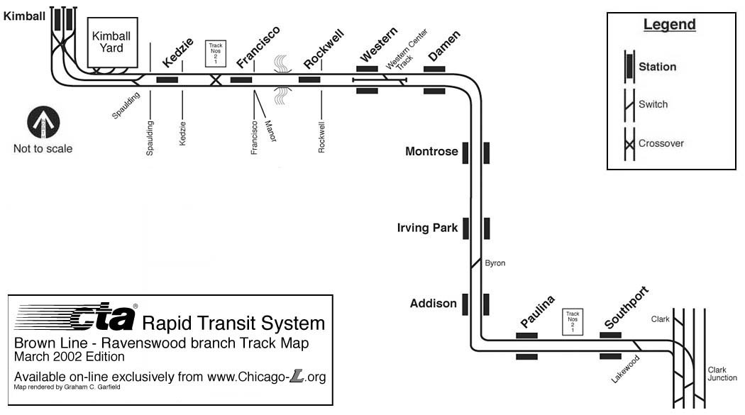 Chicago Lorg Operations Lines Ravenswood Branch - Chicago brown line map