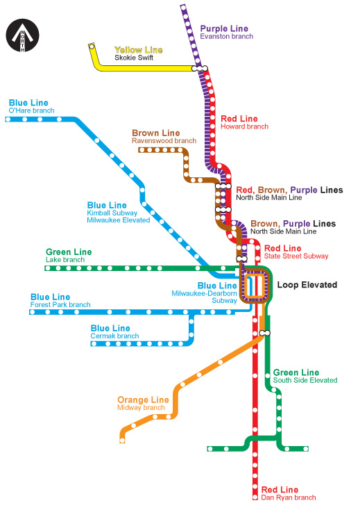L Subway Map.Chicago L Org System Maps Track Maps