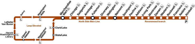 Chicago Brown Line Map Bnhspine Com