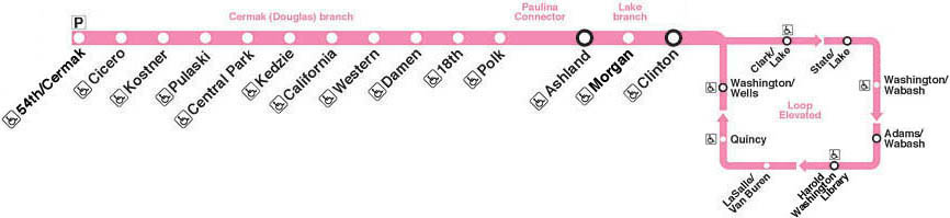 cta loop map with Pink on Chicago Map Pdf moreover Uptown additionally Then And Now A Brief History Of The Chicago L further Chicago Top Tourist Attractions Map as well 2302 Rail Service Alerts.