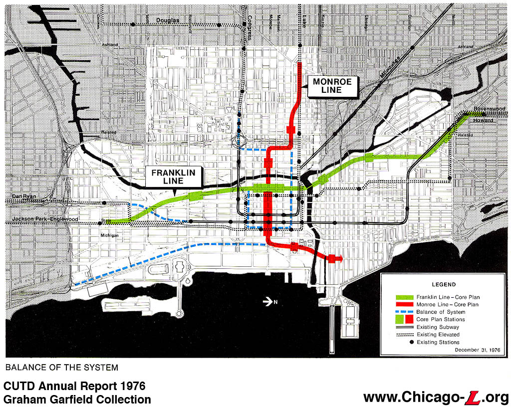 Chicago ''L''.org: Transit Plans - Chicago Central Area ... on map of hwy 301, map of dulles greenway, map of indiana toll road, map of dulles toll road, map of suncoast parkway,