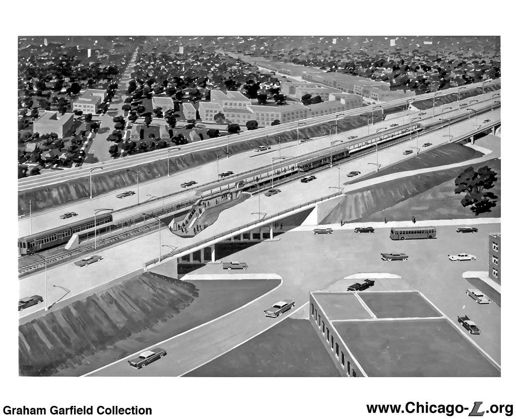 Chicago 39 39 L 39 39 Org Transit Plans New Horizons Plan 1958