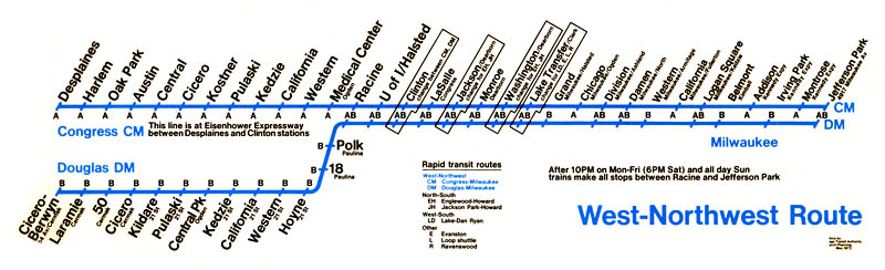 Northwest Chicago Map.Chicago L Org L Operations West Side Through Routing