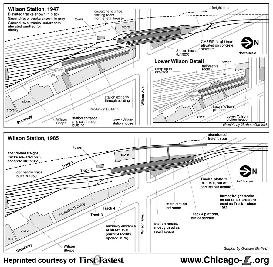 Chicago Lorg Stations Wilson - Chicago union station map