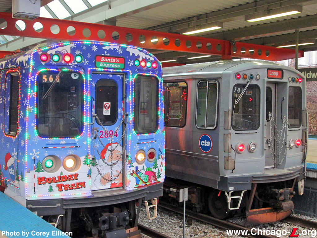 the 2013 cta holiday train stands ready to depart midway for a through trip on the orange and brown lines on thursday december 5 from the side track - Cta Christmas Train 2014
