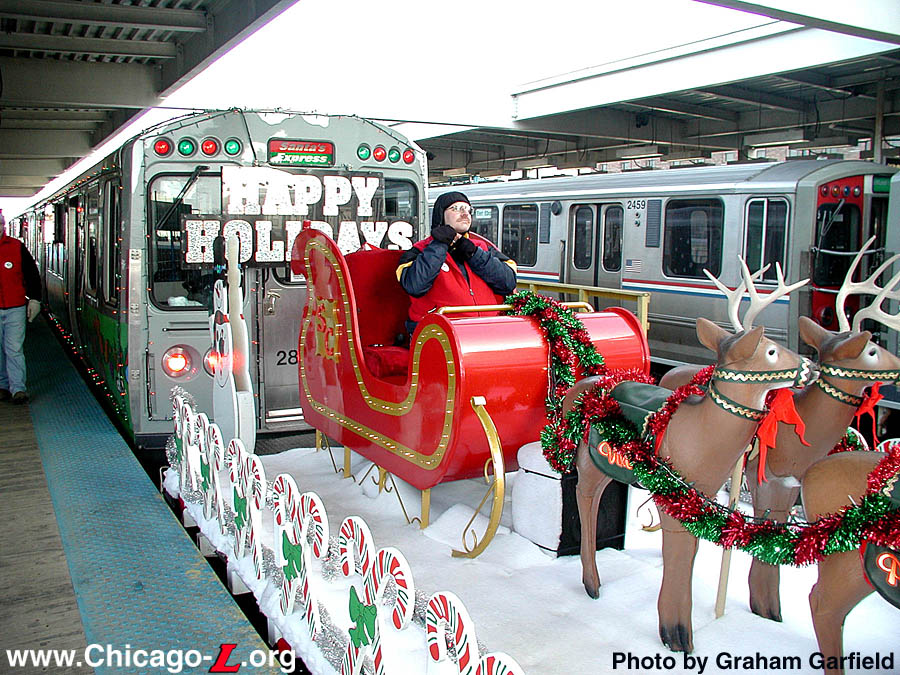 Chicago ''L''.org: Picture Gallery - Holiday Train Gallery 1