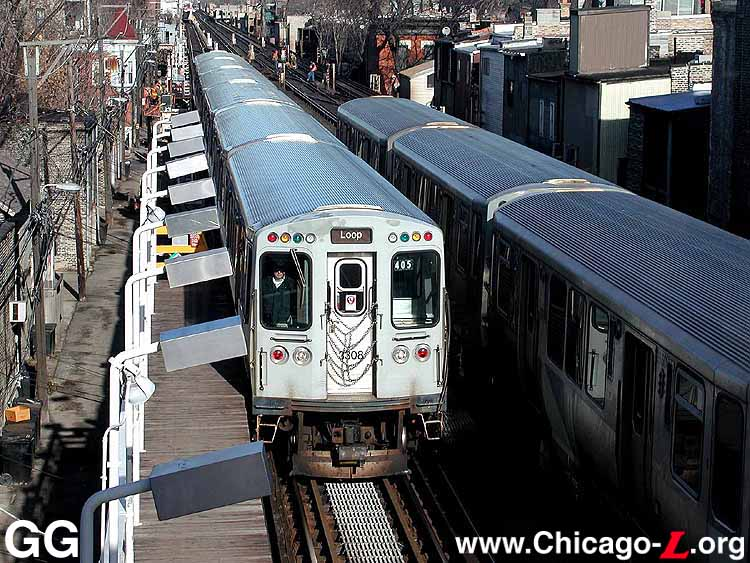 Chicago l operations lines north side main line photo sciox Gallery