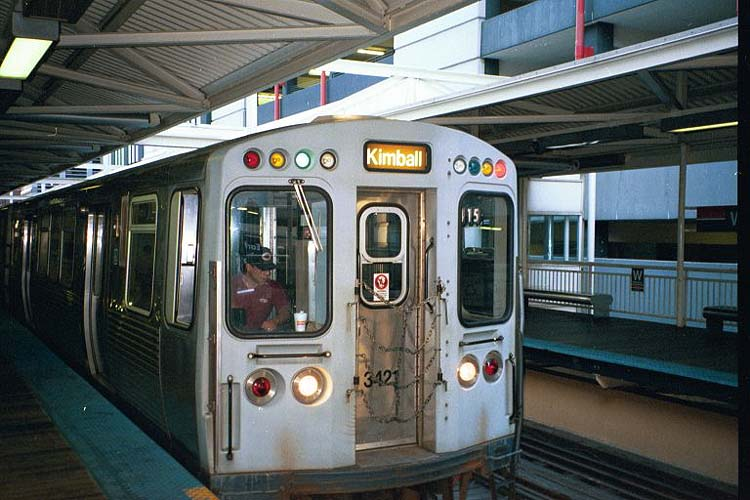 Chicago l stations washingtonwells car 3421 leads a kimball bound brown line train stopping at washingtonwells on sunday september 10 2000 photo by ernie baudler sciox Gallery